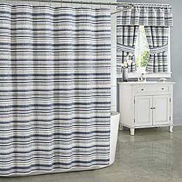 J. Queen New York Aedan Shower Curtain in Indigo