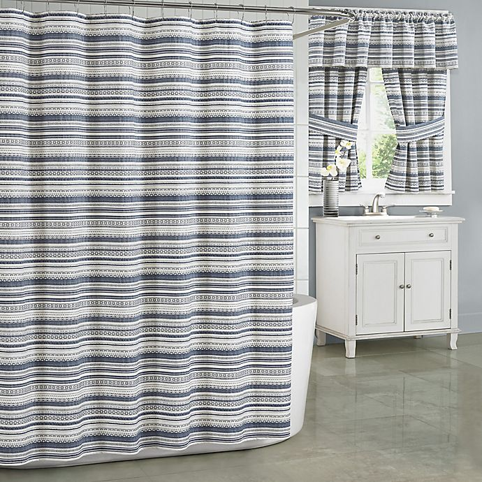 Alternate image 1 for J. Queen New York Aedan Shower Curtain in Indigo