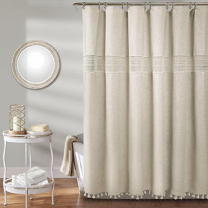 Alternate image 1 for Delilah Lace Shower Curtain