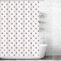 Traveling Twins Lucky Cats Shower Curtain