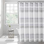 Lana Stripe 72-Inch Square Shower Curtain in Light Blue