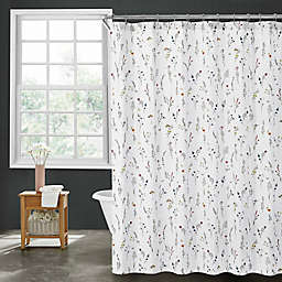 Sophie Floral 72-Inch x 96-Inch Shower Curtain in White