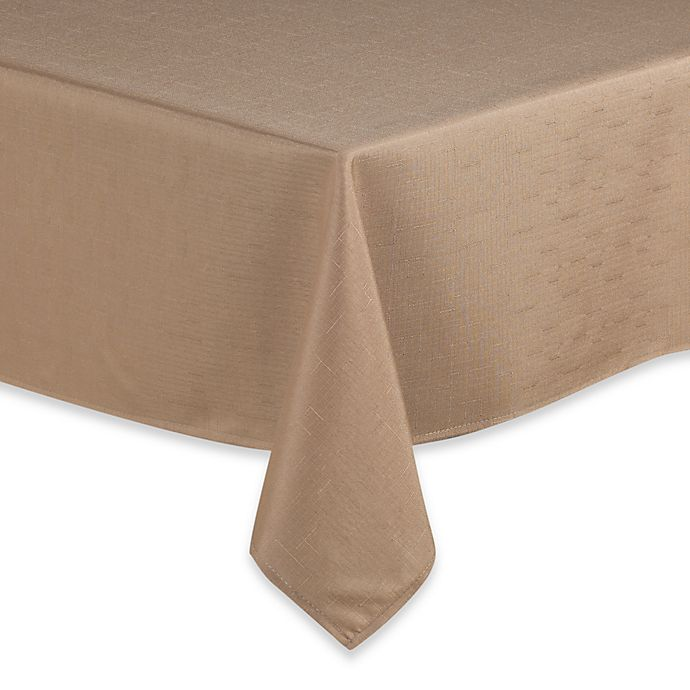Alternate image 1 for Basics 70-Inch Round Tablecloth in Camel