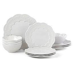 Lenox® Chelse Muse Scallop White™ 12-Piece Dinnerware Set