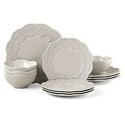 Lenox® Chelse Muse Scallop Grey™ 12-Piece Dinnerware Set