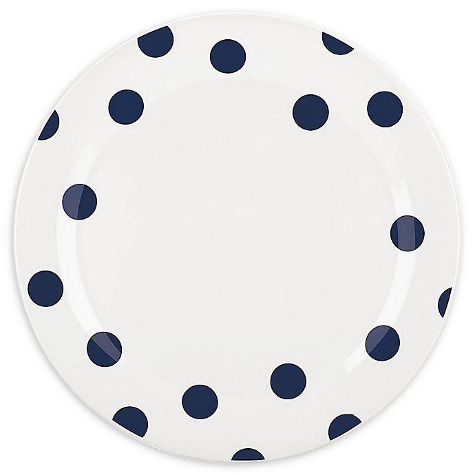 Alternate image 1 for kate spade new york All in Good Taste Deco Dot™ Dinner Plates in Cobalt (Set of 4)
