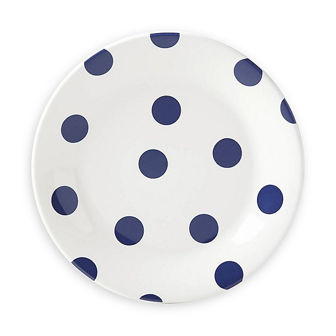 Alternate image 1 for kate spade new york All in Good Taste Deco Dot™ Accent Plates in Cobalt (Set of 4)