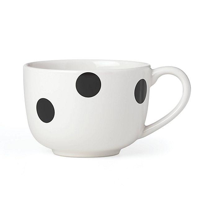 Alternate image 1 for kate spade new york All in Good Taste Deco Dot™ Latte Mug in Black