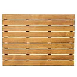 ARB Teak & Specialties Teak Wood 25-Inch x 18-Inch Shower Mat in Natural