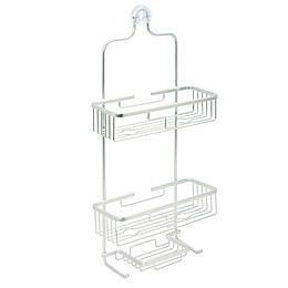 ORG NeverRust Premium Aluminum Shower Caddy in Satin Chrome