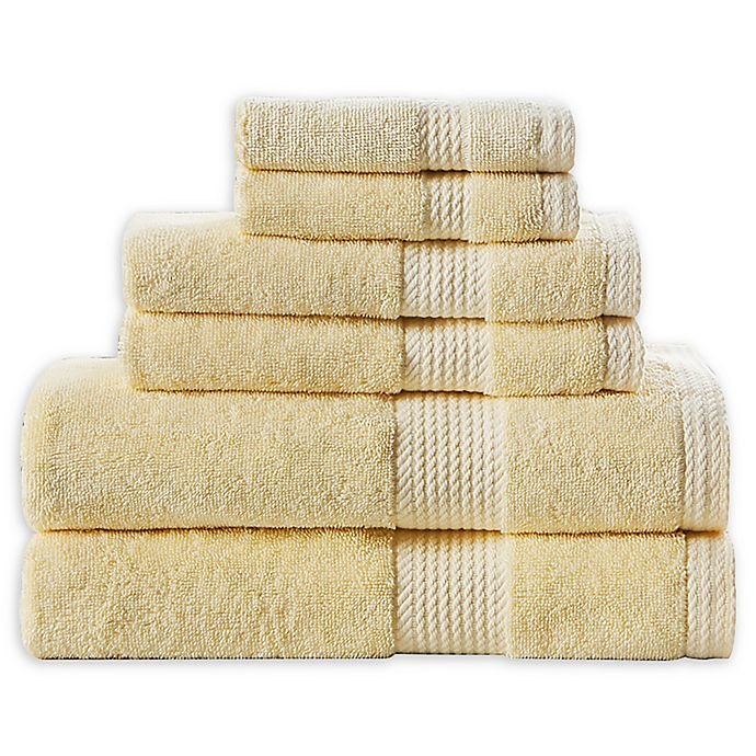 Alternate image 1 for Home Resort Extravagant 6-Piece Bath Towel Set in Yellow