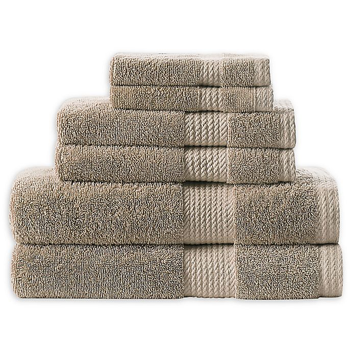 Alternate image 1 for Home Resort Extravagant 6-Piece Bath Towel Set in Taupe