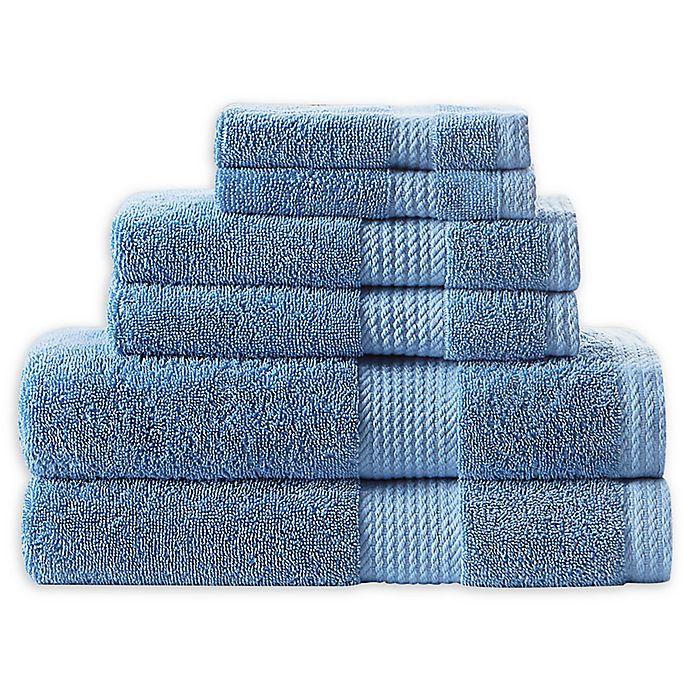Alternate image 1 for Home Resort Extravagant 6-Piece Bath Towel Set in Blue