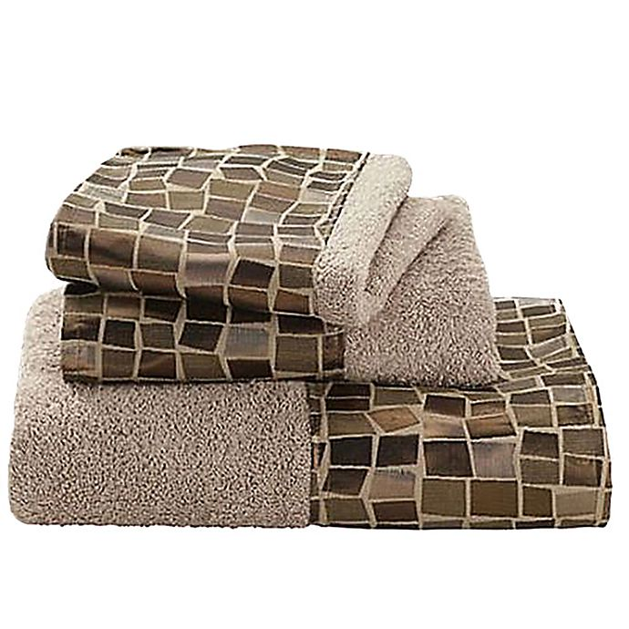 Alternate image 1 for Mosaic 3-Piece Towel Set in Bronze
