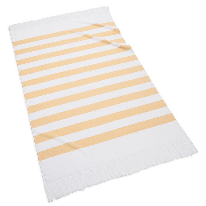 Alternate image 1 for Kassatex Sardinia Beach Towel in Yellow