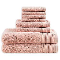 Madison Park Signature 8-Piece Mirage Towel Set in Blush