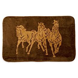 HiEnd Accents 24-Inch x 36-Inch Horse Bath Rug in Chocolate