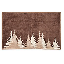 HiEnd Accents 24-Inch x 36-Inch Clearwater Pines Bath Rug in Mocha