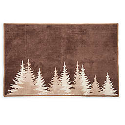 HiEnd Accents 24'' x 36'' Clearwater Pines Bath Rug in Mocha