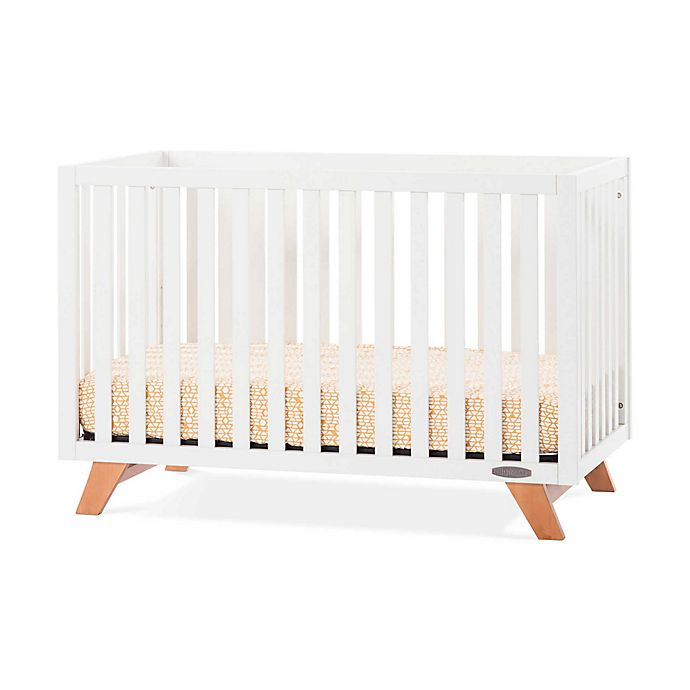 Alternate image 1 for Child Craft™ SOHO 4-in-1 Convertible Crib in White/Natural