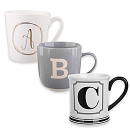 Formations Block Letter Monogram Mug Collection