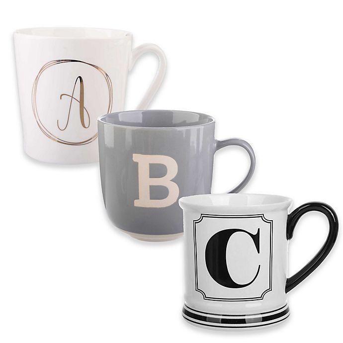 Alternate image 1 for Formations Block Letter Monogram Mug Collection