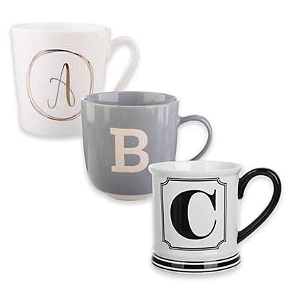 Formations Block Letter Monogram Mug Collection