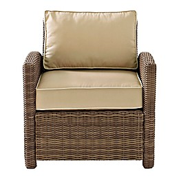 Crosley Bradenton Wicker Arm Chair