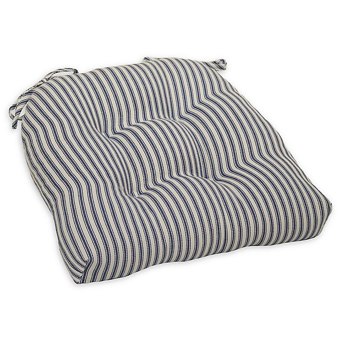 Bee Amp Willow Home Striped Chair Pad In Blue Bed Bath