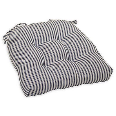 Bee & Willow™ Home Striped Chair Pad in Blue