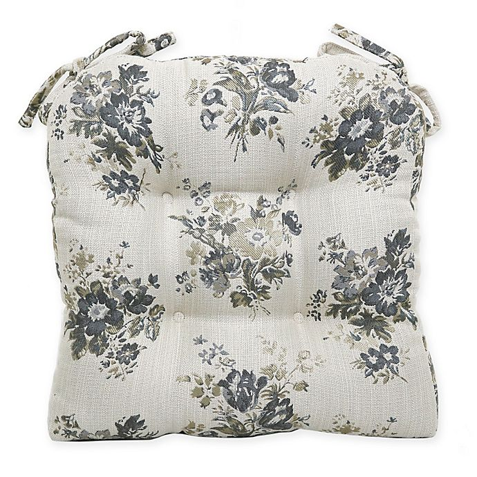 Bee Amp Willow Home Floral Chair Pad In Grey Bed Bath