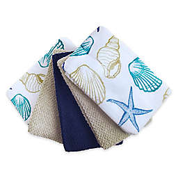 Tossed Shell Kitchen Towels (Set of 5)