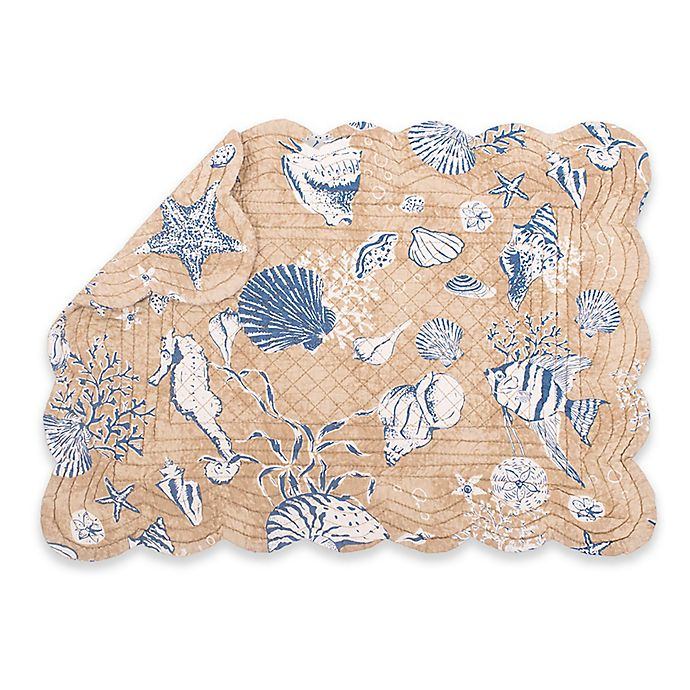 Alternate image 1 for C & F Home Sea Quilted Placemats in Tan (Set of 6)