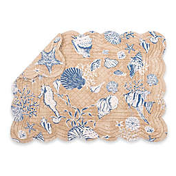 C & F Home Sea Quilted Placemats in Tan (Set of 6)