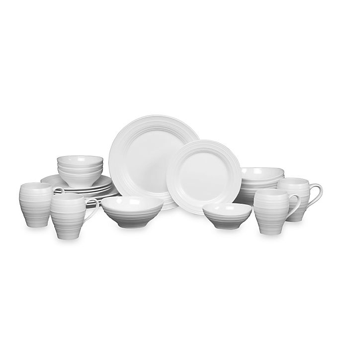 Alternate image 1 for Mikasa® Swirl 20-Piece Dinnerware Set in White