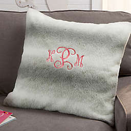 Faux Fur Personalized 18-Inch Square Throw Pillow