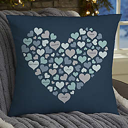 Hearts of Hearts Personalized Throw Pillow