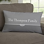Our Family Personalized Throw Pillow
