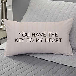Key To My Heart Personalized Throw Pillow
