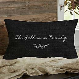 Farmhouse Floral Personalized Throw Pillow