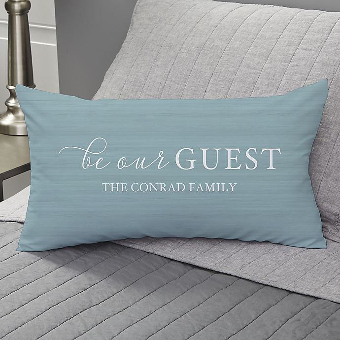 Alternate image 1 for Be Our Guest Personalized Throw Pillow
