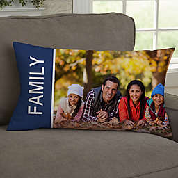 Family Love Photo Collage Personalized Throw Pillow