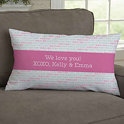 Love You This Much Photo Personalized Throw Pillow
