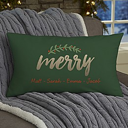 Cozy Christmas Personalized Throw Pillow