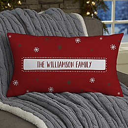 Santa Stop Here Personalized Throw Pillow