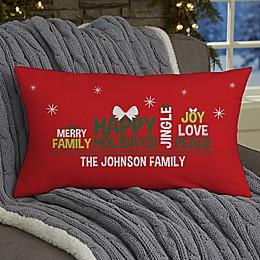 Christmas Family Tree Personalized Throw Pillow