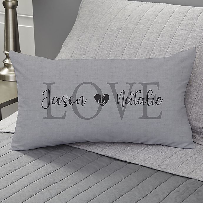 Alternate image 1 for Elegant Couple Personalized Throw Pillow