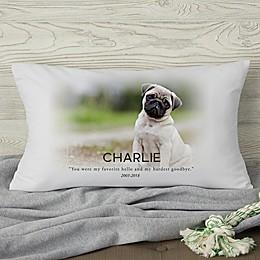 Pet Memorial Photo Personalized Throw Pillow