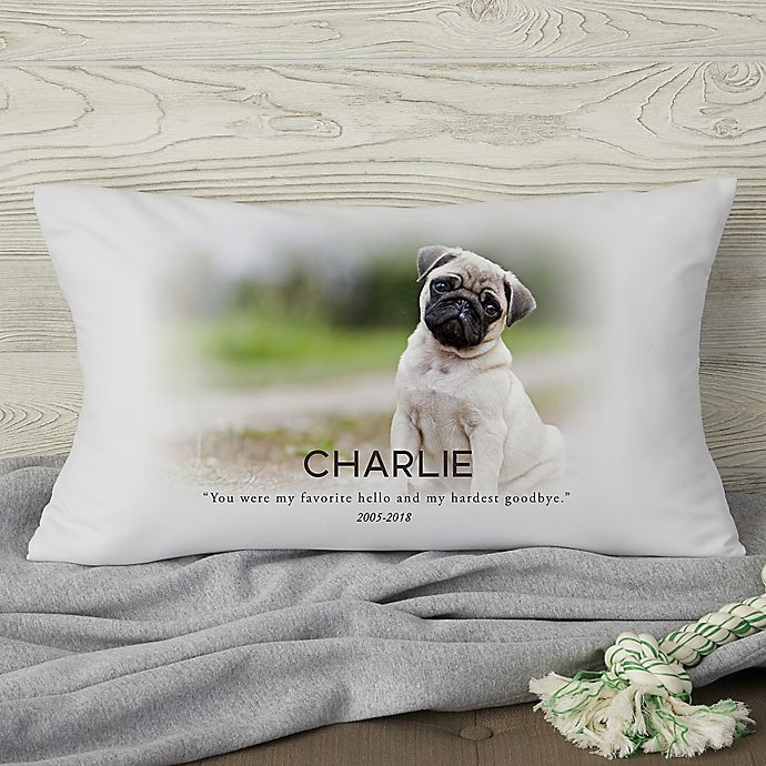 Alternate image 1 for Pet Memorial Photo Personalized Throw Pillow