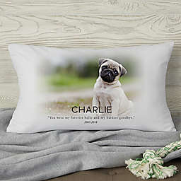 Pet Memorial Photo Personalized Throw Pillow